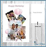personalisiert Foto Collage Geburtstag, alle Anlass, A5Karte mit Umschlag
