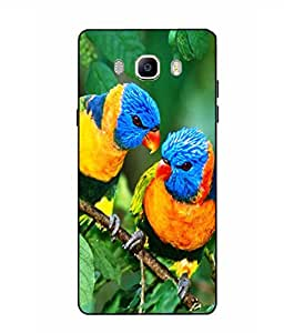 Case Cover Bird Printed Green Soft Back Cover For SAMSUNG Galaxy On8