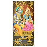 Bild Radha & Krishna 100 x 50 cm Kunstdruck Plakat Poster