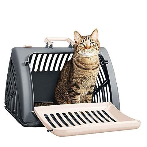 Katze Kleiner Hund Carrier Faltung Haustier KäFig, Tragbaren Koffer Fluggesellschaft Zugelassen FüR Reisen, Wandern, Wandern (Primo Uomo A Piedi Luna)