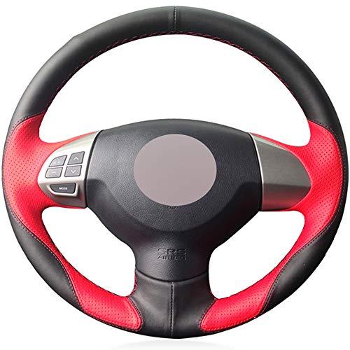 ZYTB Für rot schwarz Auto lenkradabdeckung für Mitsubishi Lancer x 10 2007-2015 Outlander 2006-2013 ASX 2010-2013 colt,Gray Thread - 2007 Mitsubishi Lancer