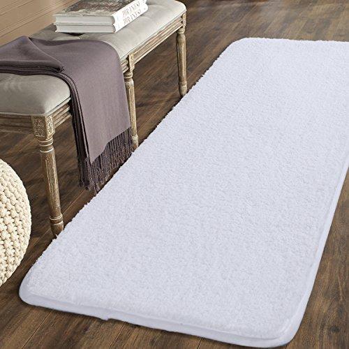 mayshine 80x150 cm Weiß non-slip weiche Mikrofasermatte Luxuriöser Teppich für Wohnzimmer Schlafzimmer Küche