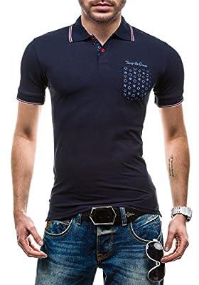 BOLF Poloshirt T-Shirt Kurzarm Polohemd Shirt Herren Figurbetont JACK DAVIS 158
