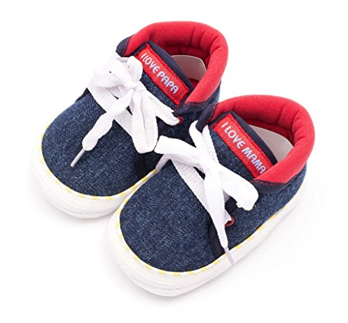 Infano Laces Style Love Print Navy Blue Color Baby Shoes (6-12 months,1 Pair)