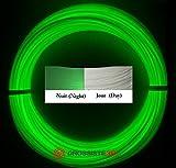 Rouleaux de 10 mètres Filaments 3D Phosphorescent Vert PLA 1.75mm pour stylo 3D ou imprimante 3D Grossiste3D