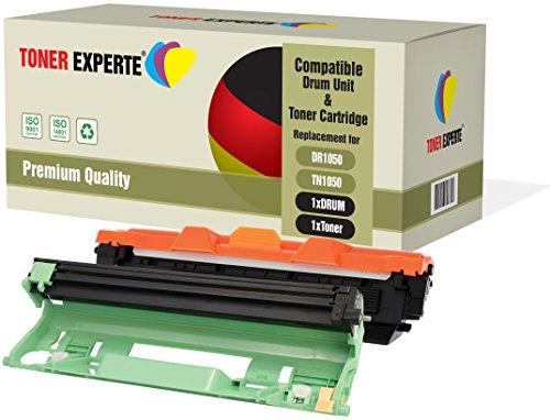 TONER EXPERTE Kit 2 DR1050 Tamburo & TN1050 Toner compatibili per Brother DCP-1510 DCP-1512 DCP-1610W DCP-1612W HL-1110 HL-1112 HL-1210W HL-1212W MFC-1810 MFC-1910W