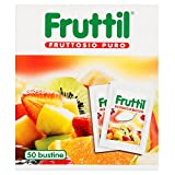 Fruttil - Fruttosio Puro - 6 confezioni da 50 pezzi da 4 g [300 pezzi, 1200 g]