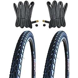 2 x Kenda Reifen Fahrradreifen Pannensicher 28 Zoll 40-622 38C inklusive 2 x Schlauch mit Autoluftventil