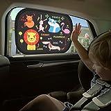 Pare-soleil Voiture Bébé (Lot de 2) - Nuances de Fenêtre Voiture Protection - Pour Protéger vos enfants et animaux Contre les Rayons UV nocifs du soleil et de la Chaleur - Vendu Par IntiPal