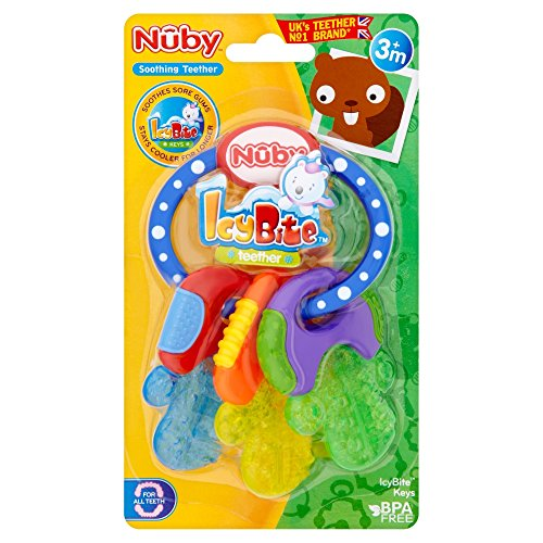 Nûby 455 Beissring 'Schlüssel' mit Eisgel gefüllt