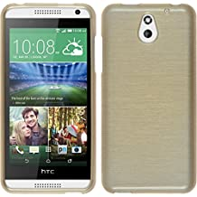 Funda de silicona para HTC Desire 610 - brushed oro - Cover PhoneNatic Cubierta + protector de pantalla