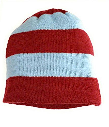 94137d828053f West Ham retro Claret   Blue Stripe bar Football Beanie Hat Mens