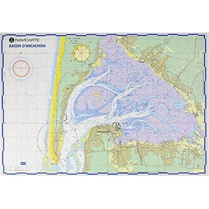 Bassin d'Arcachon (10) Carte Plastifiee