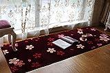 Tappeto orientale della moquette di ciliegia del salone del fondo del tappeto per il tè della tabella del sofà della terra della stuoia di cerimonia nuziale della finestra della baia 75 * 200cm ( Colore : Wine B )