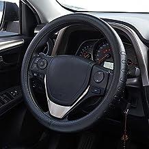 FMS Pelle Coprivolante Copertura Volante 37-38cm auto universale Automotive interni