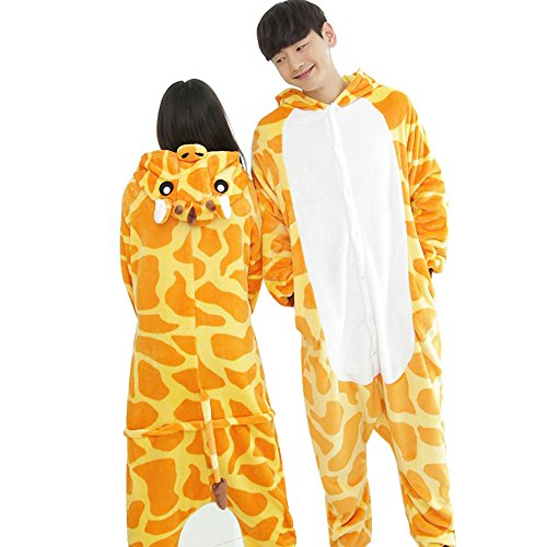 dressfan Unisex Adult Animal Pajamas Giraffe Cosplay Costume