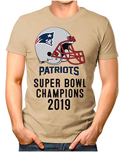 OM3® - Patriots-Champ - T-Shirt | Herren | American Football Shirt | L, Khaki