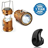 #4: Captcha Rechargeable collapsible solar camping lantern With S530 Stylish Mini Wireless Bluetooth In-Ear V4.0 Handfree (One Year Warranty)