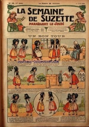 SEMAINE DE SUZETTE (LA) [No 13] du 27/04/1922 - UN BON TOUR - BECASSINE NOURRICE