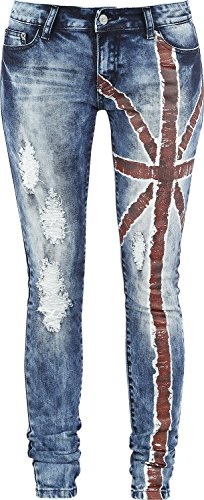 R.E.D. by EMP Flag Jeans (Slim Fit) Jeans donna blu W29L34