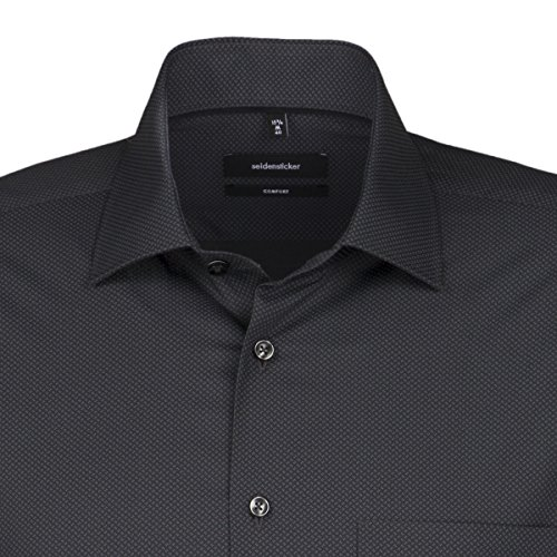 Seidensticker Herren Businesshemd Comfort, Grau