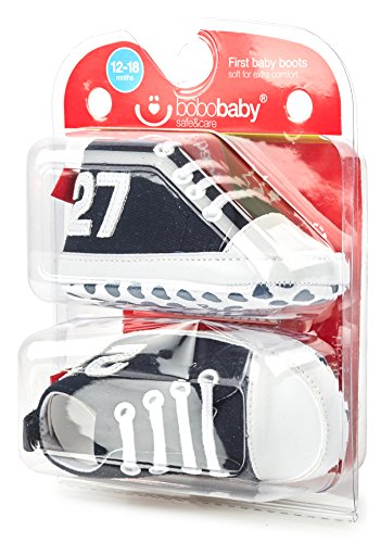 Bobobaby Baby Mädchen und Jungen Bobobaby Babyschuhe Hausschuhe BL-106 Schwarz