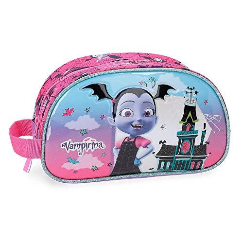 Disney vampirina beauty case da viaggio, 24 cm, 3.36 liters, viola (morado)