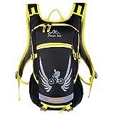 15L equitazione Bike Bag Zaino con casco NET Bag per uomo e donna 5 colori H44 x L25 x T13 cm , yellow