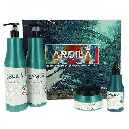 Argila Amazonia Kit LissAge brésilien 4Produkte ohne Salz ohne Parabene–2800ml