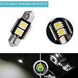 """ZISTE Xenon Blanco de 6000K 5050 2-smd 31mm (1.25"""") Canbus 12v Luces interiores para el coche Luces internas Paquete de 2 piezas"""