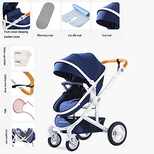HKJCC High Landscape Kinderwagen kann sitzen liegend Faltbare Licht Zwei-Wege-Allrad-Stoßdämpfer Kinderwagen Kaufen Sie eine Get Eight kann sitzen liegend Baby Car