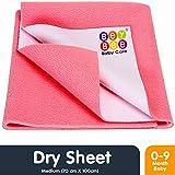 Bey Bee Waterproof Bed Protector Baby Dry Sheet, Medium, Salmon Rose