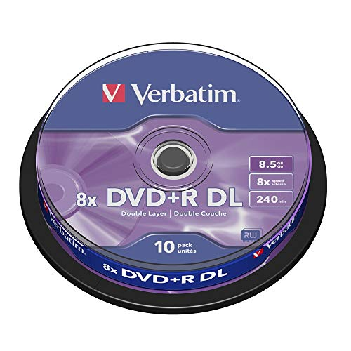 dvd 8gb Verbatim 43666 8,5 GB 8x Doppelschicht DVD + R Matt Silber - 10 Pack Spindel