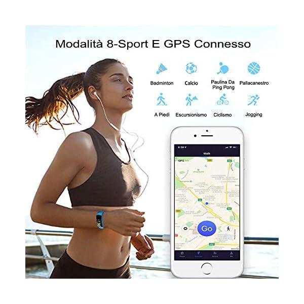 Pulsera de Actividad Inteligente Impermeable IP67 con 8 Modos de Deporte,Pulsera Inteligente con Pulsómetro, Blood Pressure, Sueño,Podómetro,Pulsera Deporte para Android y iOS Teléfono móvil 10