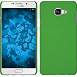Coque Rigide pour Samsung Galaxy A3 (2016) A310 - gommée vert - Cover PhoneNatic Cubierta + films de protection