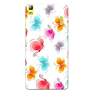 CrazyInk Premium 3D Back Cover for Lenovo K3 Note - Butterfly Vector Patern