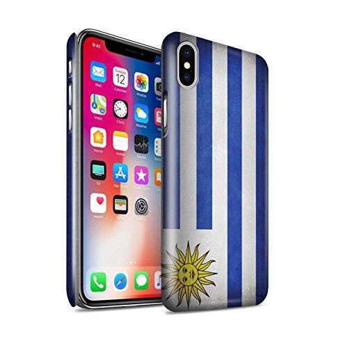 STUFF4 Glanz Snap-On Hülle / Case für Apple iPhone X/10 / Griechenland/Griechisch Muster / Flagge Kollektion Uruguay/Uruguayischen
