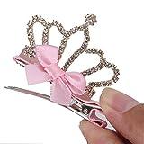 maltonyo171pieza bonita forma de corona de la niña pelo Clip Navidad accesorios para el pelo de regalo de cumpleaños (color rosa)