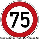 70-79 (km/h) Verkehrszeichen als Geburtstagsschild 60 cm Durchmesser, Aluminium Reflektierend (75)