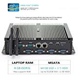 hystou fmp04b fanless Core i3, Gaming Mini PC, mini PC Ordinateur de bureau avec Intel Core i3 5005u 2.0 GHz 300 m wifi 8GB RAM 64GB SSD+1TB HDD