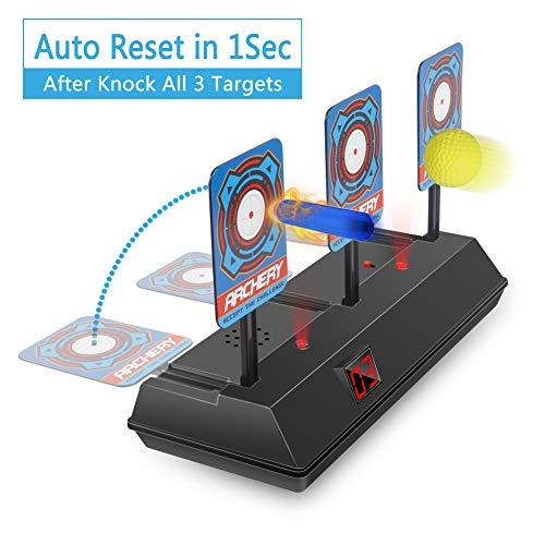 HAHAone Auto Reset Elektro-Schießscheiben für Nerf Guns N-Strike Elite / Mega / Rival-Serie, Digitale Ziele mit hellem Soundeffekt