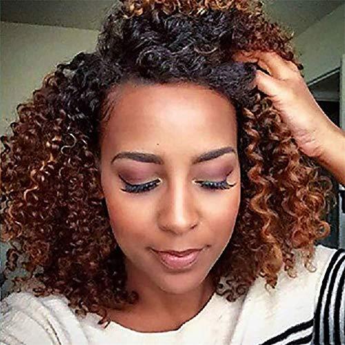 Parrucche afro per le donne africane nere parrucche piene crespi ricce corte parrucche sintetiche termoresistenti bionde da nero a marrone con cappuccio parrucca 16150g xk&cq