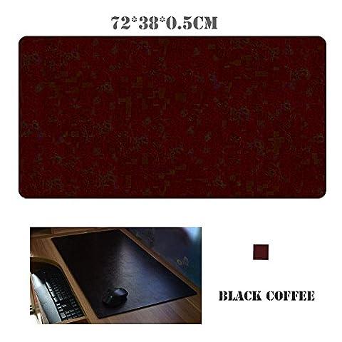 Kupx Tapis de souris étendu pour gaming, en cuir noir mat 71,1x 38,1x 0,5cm