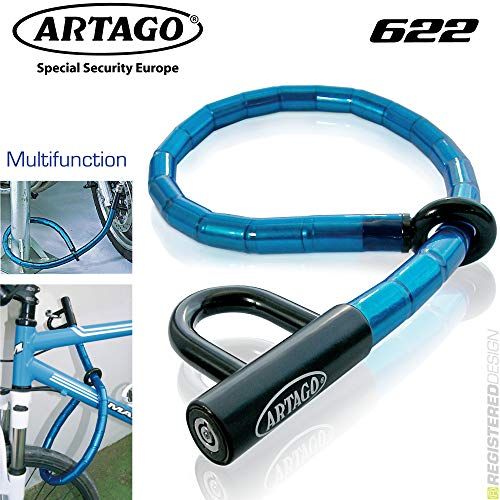 Artago 622P/B Antirrobo Lazo Multi-Función Articulado De Rotulas 2 En 1 Moto, Scooter, Bicicleta