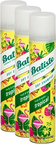 Shampoo secco Batiste Dry Shampoo Coconut & Exotic Tropical fresca capelli per tutti i tipi di capelli confezione da 2+ 1