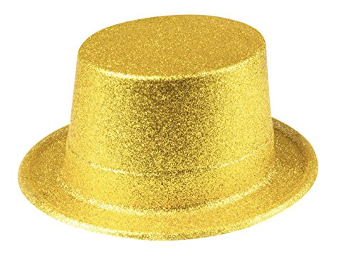 Boland 04250 Hut Glitter, Unisex-Adult, Gold, One -