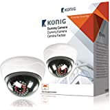 König SAS-DUMMYCAM95 Caméra dôme CCTV factice avec 25 LED IR