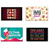 YaYa Cafe 12 X 18 Inches Best Things In Are Life Sweet Printed Table Mats Placemats For Dining Table Set Of 4