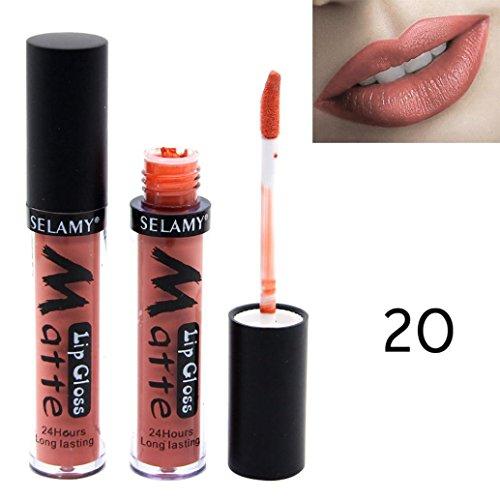 Gaddrt SELAMY Liquid Lipstick Feuchtigkeitscreme Samt Lippenstift Kosmetik Schönheit Make-up (T)