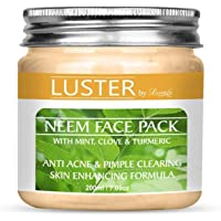 Luster Neem Face Pack (Anti-Acne & Pimple Clearing) For Glowing Skin,Dry & Oily skin   Fairness Face Pack   Anti acne…